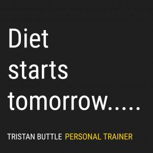 Diet starts tomorrow