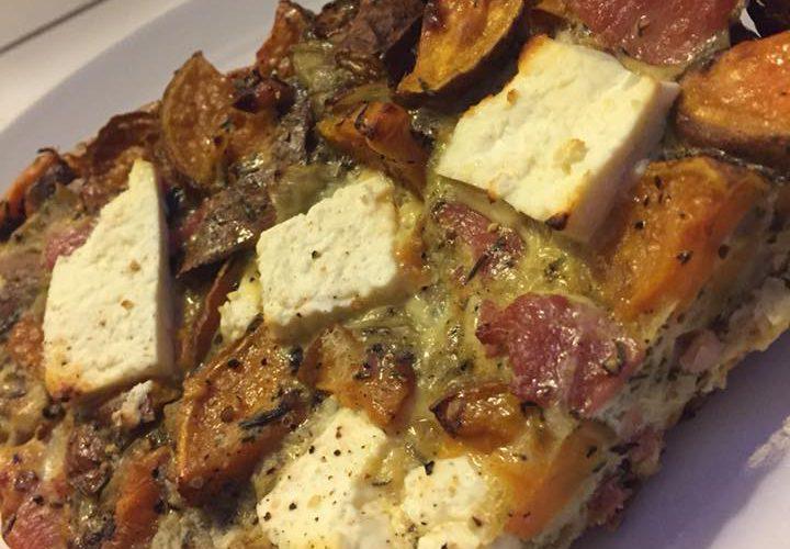 Sweet Potato, Bacon & Feta Frittata