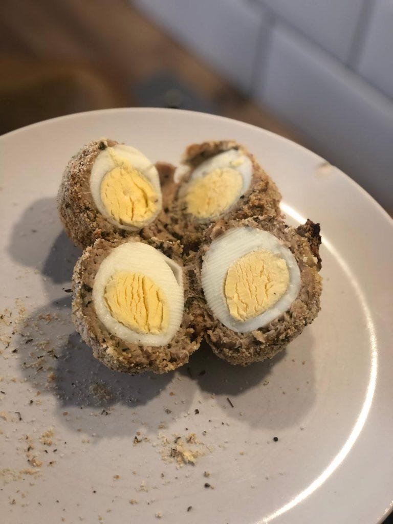 Chicken Sausage Scotch Eggs